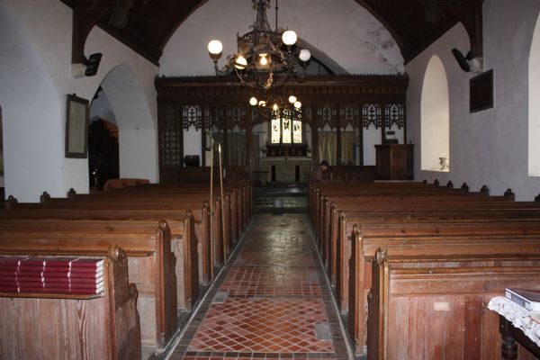 Inside St. Curig's Church